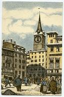 LA SUISSE : ZURICH - FUR DIE JUGEND / ILLUSTRATEUR - SCHLATTER / CACHET - ZURICH 1913 / ADDRESS - HONOR OAK, LONDON - ZH Zürich