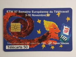 Télécarte - Semaine Européenne Du Télétravail - 1997 - Cultural