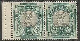 South Africa - 1937 Springbok 1/2d Booklet Pair MNH **    SG 75b   Sc 46b - South Africa (...-1961)