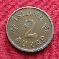 Iceland  2 Aurar 1938 KM# 6.1  Islandia Islande Island Ijsland - Islandia