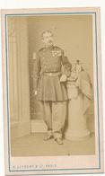 Photo CDV -  Jules Le Maréchal, Capitaine, Infanterie De Marine - A. Liebert, Paris - Ancianas (antes De 1900)