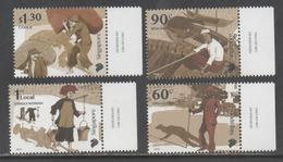 SINGAPORE, 2018, MNH, EARLY TRADES OF SINGAPORE, BOATMEN, BOATS, COOLIES, GUARDS, 4v - Jobs