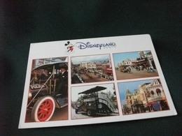 STORIA POSTALE FRANCOBOLLO FRANCIA EURO DISNEY DISNEYLAND PARIS  VEDUTE MAIN STREET USA AUTO POLICE - Disney