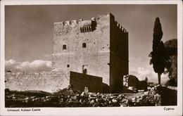 Postcard Limassol Λεμεσός Lemesós Kolossi Castle 1930 - Zypern