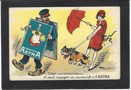 CPA Bouledogue Français French Bulldog Chien Publicité Astra Non Circulé Raoul VION - Cani