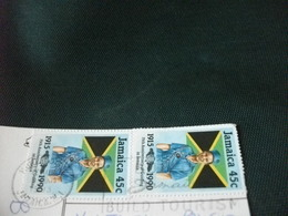 STORIA POSTALE FRANCOBOLLO JAMAICA GIAMAICA CANTI DANZE BALLI MUSICA CONCERTO ALL'APERTO - Giamaica