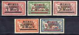 Memel (Klaipeda) 1922 Mi 99; 101-102; 104; 107 *, Flugpost / Air Mail [301016XIII] - Memelgebiet
