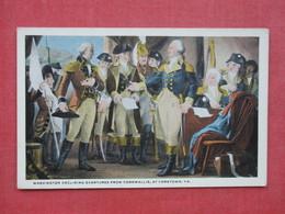 Washington  Declining Overtures From Cornwallis At Yorktown Va --------------------  --- Ref 3397 - History