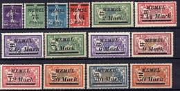 Memel (Klaipeda) 1922 Mi 84-97 * (Mi 96-97 **) [301016XIII] - Memelgebiet