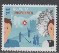 SWITZERLAND, 2017, MNH, UNSPUNNEN, MUSIC, COSTUMES, 1v - Geography