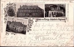 ! ( 57 ) Alte Litho Ansichtskarte 1898 Gruss Vom Königs-Infanterie-Regiment (6. Lothringisches) - Metz