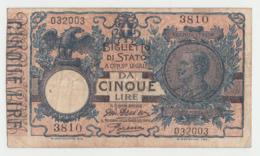 ITALY 5 LIRE 1904 AVF Pick 23 - [ 1] …-1946 : Regno
