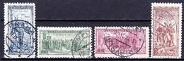 Tchécoslovaquie 1934 Mi 322-5 (Yv 285-8), Obliteré - Oblitérés