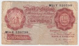 Great Britain 10 Shillings 1955 - 1960 VG Pick 368c 368 C - 1952-… : Elizabeth II