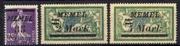 Memel (Klaipeda) 1922 Mi 84; 88; 91 * [301016XIII] - Memelgebiet