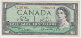 Canada 1 Dollar 1954 QEII VF Pick 74b 74 B - Canada