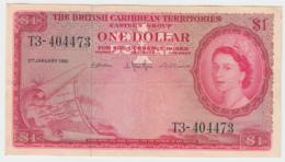British Caribbean Territories 1 Dollar 1961 AVF+ (upper Border Tear) Pick 7c 7 C - Oostelijke Caraïben
