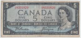 Canada 5 Dollars 1954 VG-F (1955-61) Beattie-Coyne Pick 77b 77 B - Canada