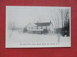Fox Lake Farm House  Beaver Brook Sull County   - New York ------------------  --- Ref 3397 - Other
