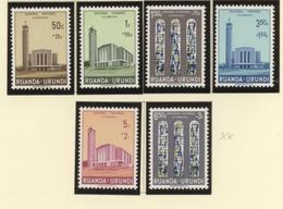 Ruanda-Urundi**catholic Cathedrale Usumbura-6vals-1961-church-eglise-Congo-Kongo-MNH - Ruanda-Urundi