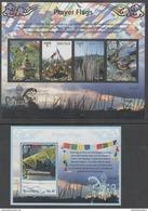 BHUTAN, 2017, MNH, RELIGION, PRAYER FLAGS, SHEETLET+S/SHEET - Drapeaux