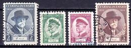 Tchécoslovaquie 1935 Mi 332-5 (Yv 292-5), Obliteré - Used Stamps