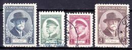 Tchécoslovaquie 1935 Mi 332-5 (Yv 292-5), Obliteré - Oblitérés