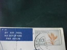 STORIA POSTALE FRANCOBOLLO LESOTHO TIPICO VILLAGGIO DI MONTAGNA PIEGA ANG. - Lesotho