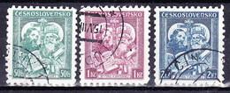Tchécoslovaquie 1935 Mi 339-41 (Yv 299-301), Obliteré - Oblitérés