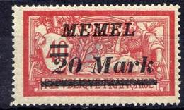 Memel (Klaipeda) 1922 Mi 114 ** [020619XXVII] - Memelgebiet