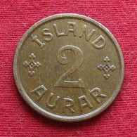 Iceland  2 Aurar 1940 KM# 6.1 N - GJ   Islandia Islande Island Ijsland - Islandia