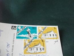 STORIA POSTALE FRANCOBOLLO SCI NAUTICO ARUBA IMAGES OF ARUBA DUTCH ANTILLES ANTILLE - Aruba
