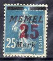 Memel 1923 Mi 122 ** [020619XXVII] - Memelgebiet
