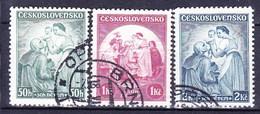 Tchécoslovaquie 1936 Mi 342-4 (Yv 303-5), Obliteré - Oblitérés