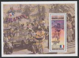 """2003 Sierra Leone """"Bernard Hinault"""" Tour De France Ciclismo Cycling Cyclisme MNH** Sie111 - Ciclismo"""