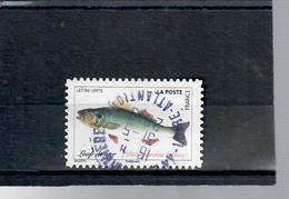 42-poissons De La Mer-loup De Mer-cachet Rond - France