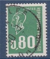 = Type Marianne De Bèquet  80c  Vert, Typographié, N°1891b Oblitéré - 1971-76 Marianne Of Béquet