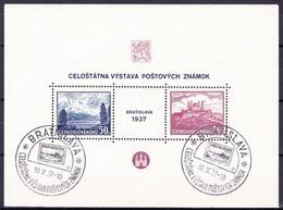 Tchécoslovaquie 1937 Mi 384-5 - Bl.1 (Yv BF 3), Obliteré - Oblitérés