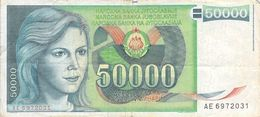 50 000 Dinar Banknote Jugoslawien 1988 VF/F (III) - Jugoslawien