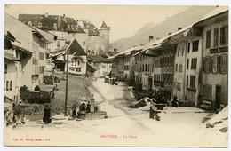 LA SUISSE : GRUYERE - LA PLACE (NIEGE) - FR Fribourg