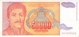 50 000 Dinar Banknote Jugoslawien 1994 VF/F (III) - Jugoslawien