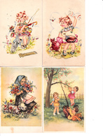 Cartes Postales.Enfants.Lot De 28 Cartes. - Scènes & Paysages
