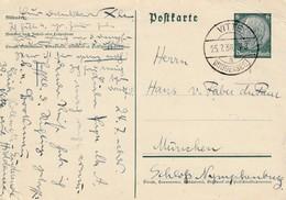 EP Michel P 226 Obl VITTE / (HIDDENSEE) Du 25.7.36 Adressée à München - Storia Postale
