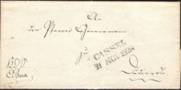 Germany Prussia - Cassel 1834 2 Zeil-Stempel Auf Briefhülle - Germania