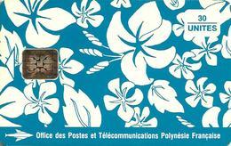 FRENCH POLYNESIA 30 U BLUE PAREO 9-DIGIT SN HIP FPY-017A READ DESCRIPTION !! - French Polynesia