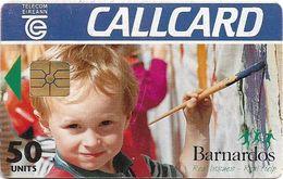 Ireland - Eircom - Barnardos, Kid - 50Units, Chip GEM1B Not Symmetric, Red, 07.1995, 50.000ex, Used - Ireland