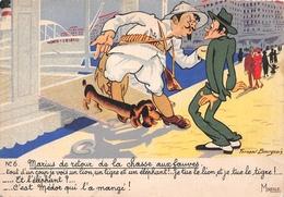 MARSEILLE - Marius De Retour De La Chasse Aux Fauves - Illustrateur Fernand Bourgeois - Editions Mireille N'6 - Vieux Port, Saint Victor, Le Panier