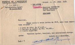 VP15.034 - VIETNAM - 2 Documents De La Banque De L'Indochine à SAIGON - Factures & Documents Commerciaux