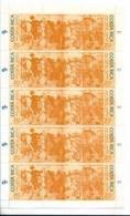 COSTA RICA 1994 UPAEP HORSES, PAINTING COMPLETE SHEET MICHEL 1441/42 SCOTT 476 - Costa Rica
