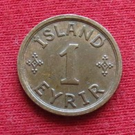 Iceland 1 Eyrir 1940 KM# 5.2  Islandia Islande Island Ijsland - Islande